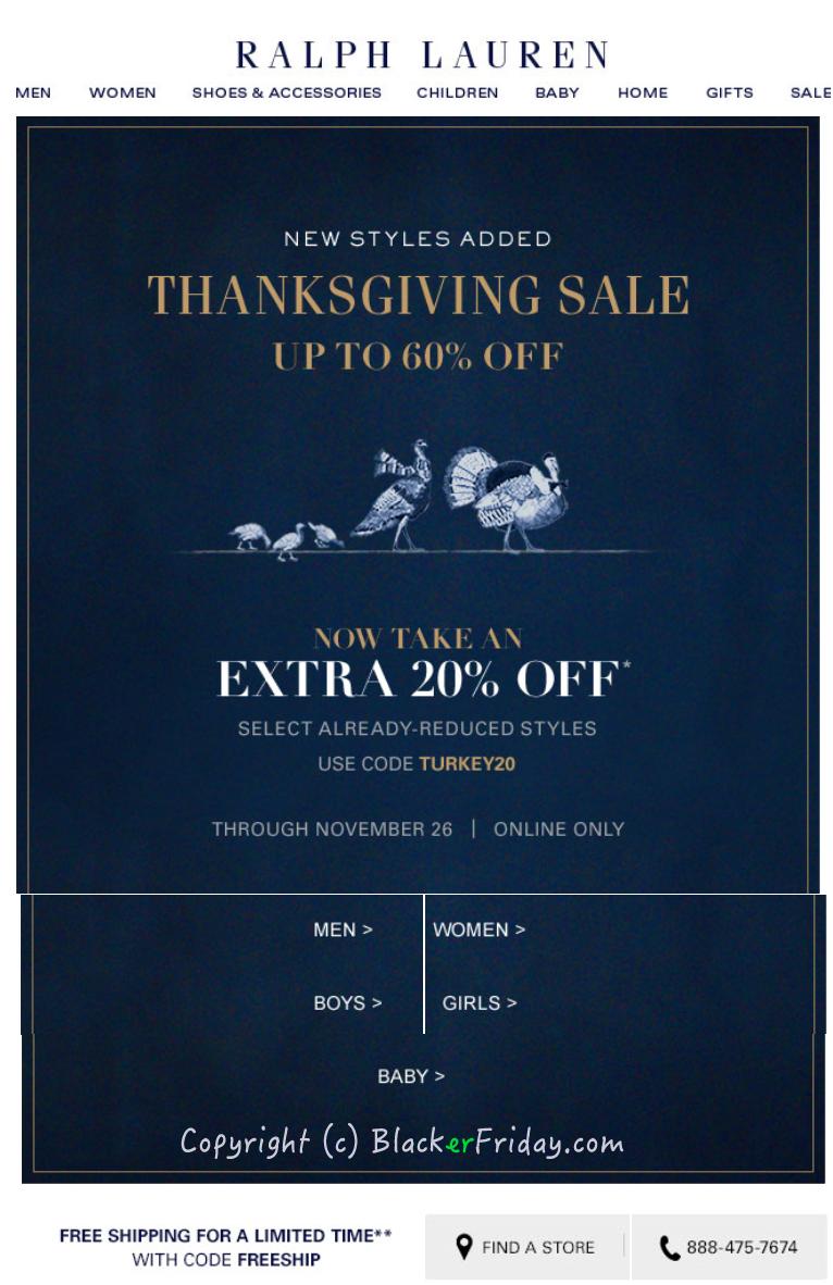 Ralph Lauren Black Friday 2019 Sale, Ad & Outlet Deals
