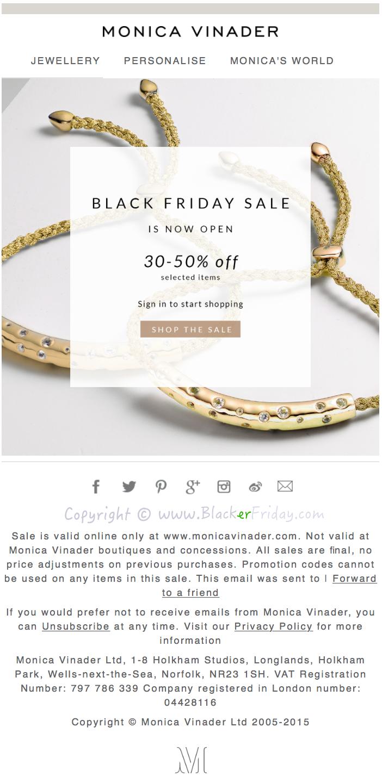 Monica Vinader Black Friday 2018 Sale - Blacker Friday