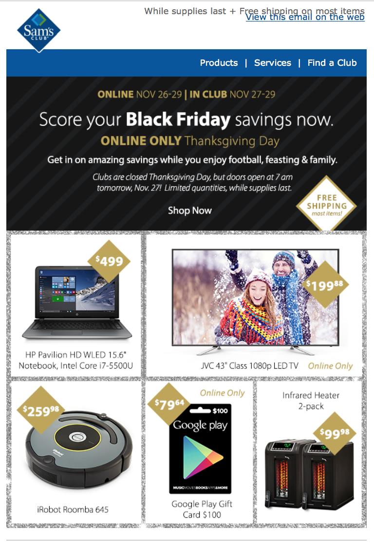 Sam S Club Black Friday 2018 Ad Amp Store Hours Blacker Friday