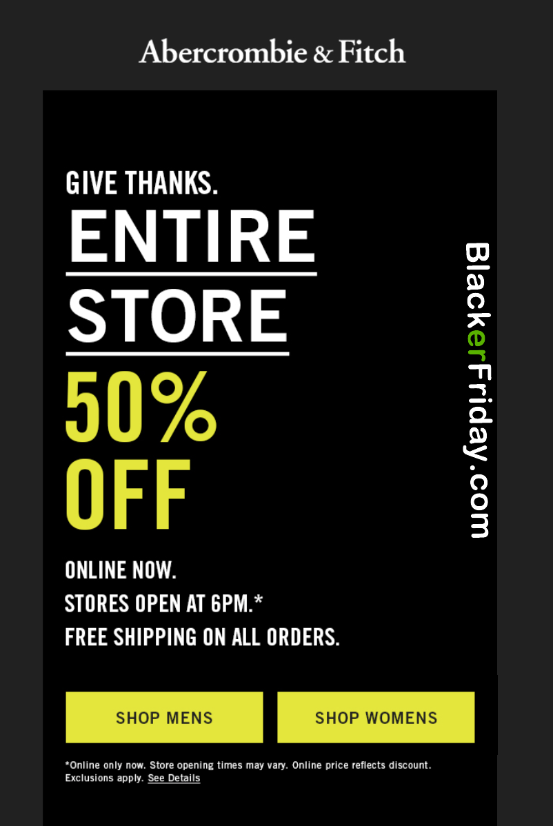Abercrombie And Fitch Black Friday