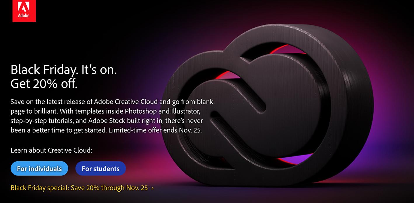 Adobe Black Friday sales