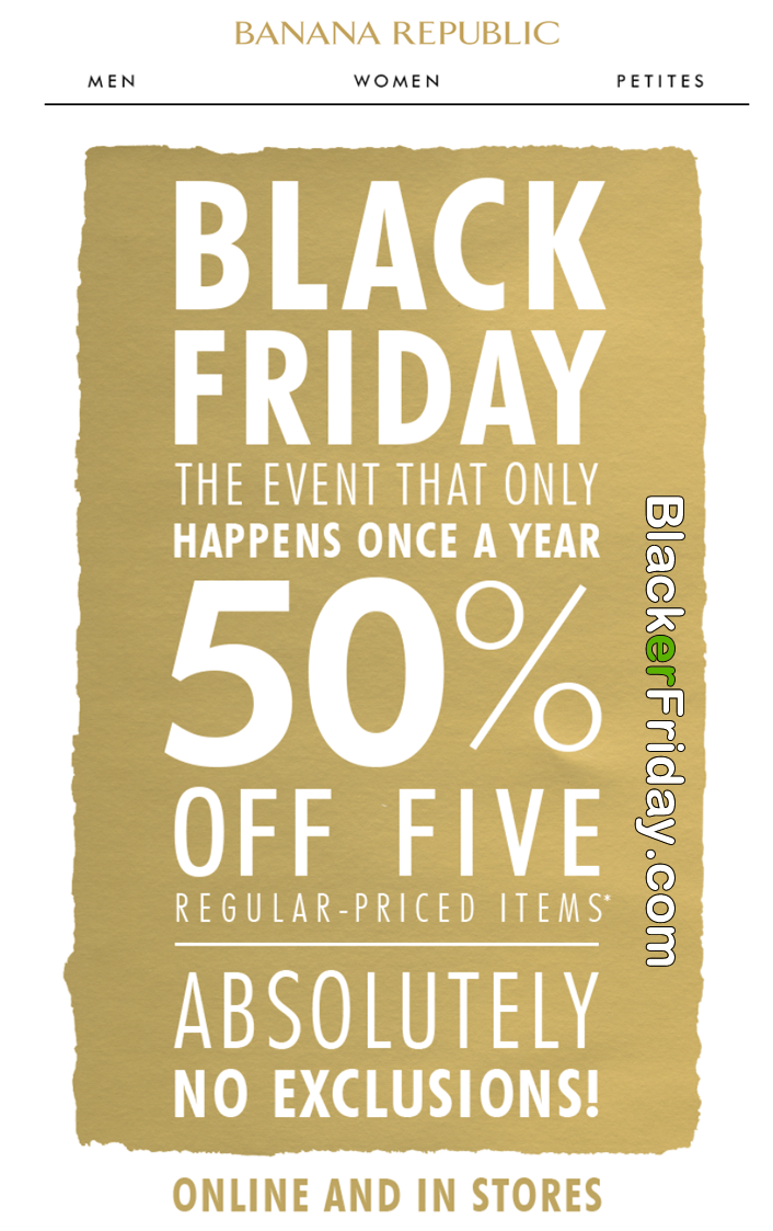 Nov 23,  · Black Friday is around the corner, and Banana Republic is one of the many retailers that are expected to have plenty of deals in-store and online.