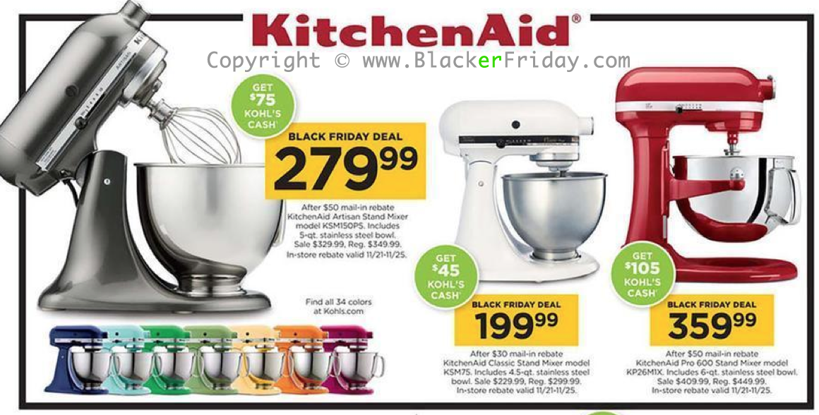 Kitchen Aid Mixer Macys Black Friday