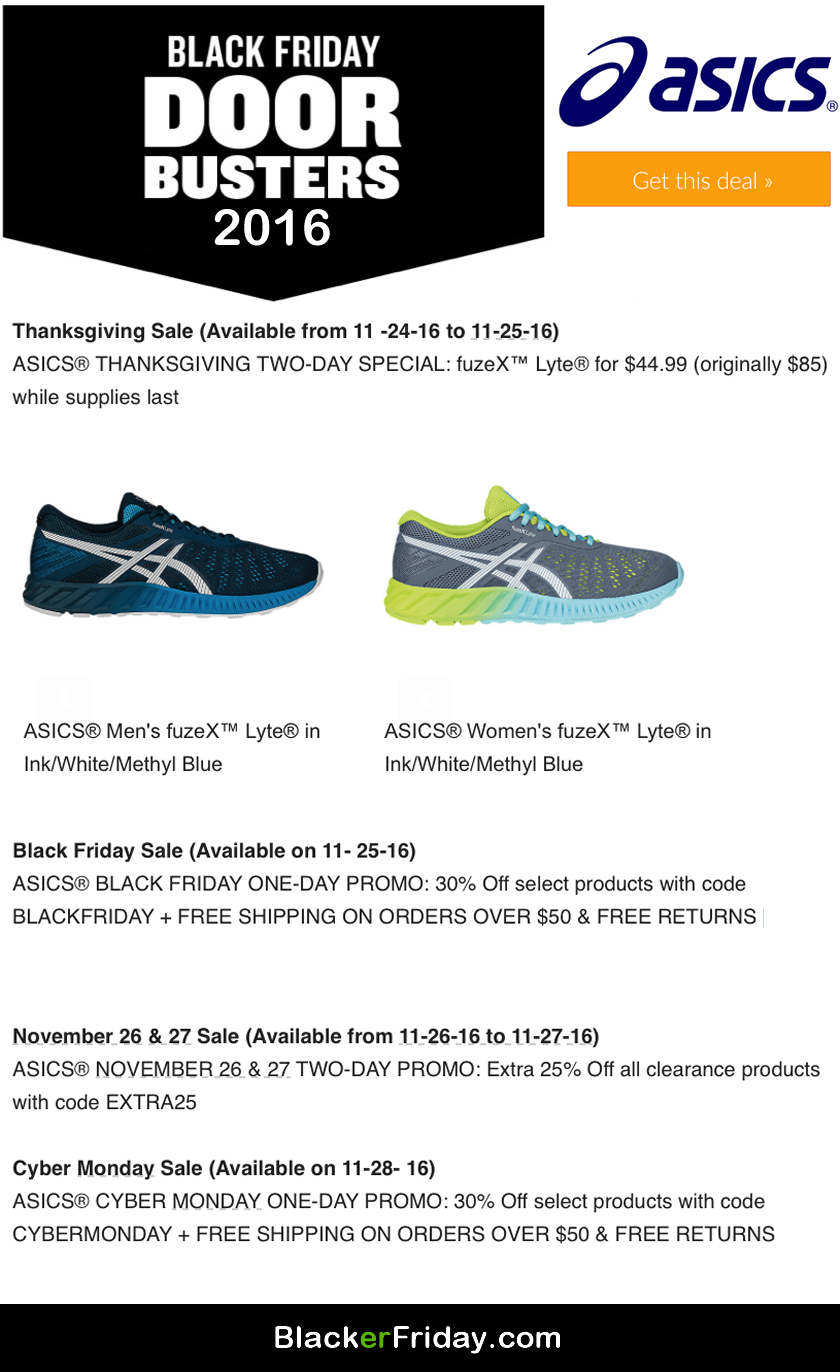 ASICS Black Friday 2020 Sale What to Expect Blacker Friday