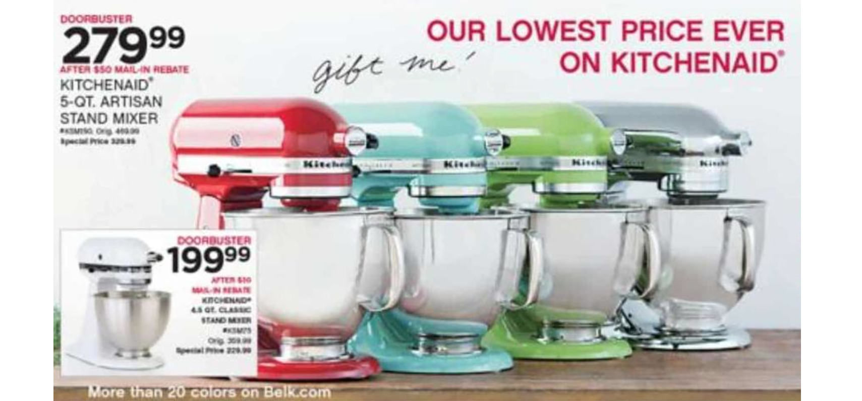 The Best Deal On A Kitchen Aid Mixer
