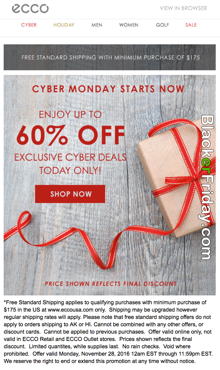 Ecco Cyber Monday 2020 Sale - What to