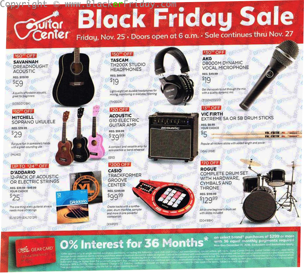 Guitar Center Cyber Monday Ad, Sale & Deals Guitar Center Cyber Monday will roll out tons of deals on all things music. If you are looking to treat yourself to that new piece of gear you've been wanting, or shop for the musician in your life – this will be the best time of the year to get amazing deals on the most sought-after brands.4/5(4).