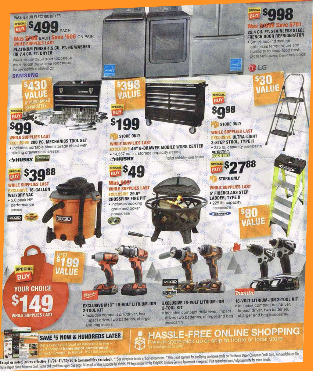HOME DEPOT BLACK FRIDAY 2019 OPEN