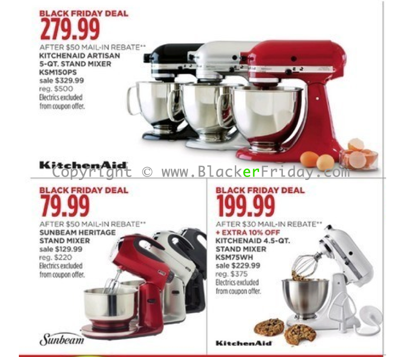 Kitchen Aid Mixers Black Friday Sale