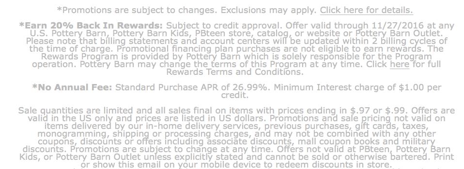 Pottery Barn Black Friday 2018 Sale Deals Blacker Friday
