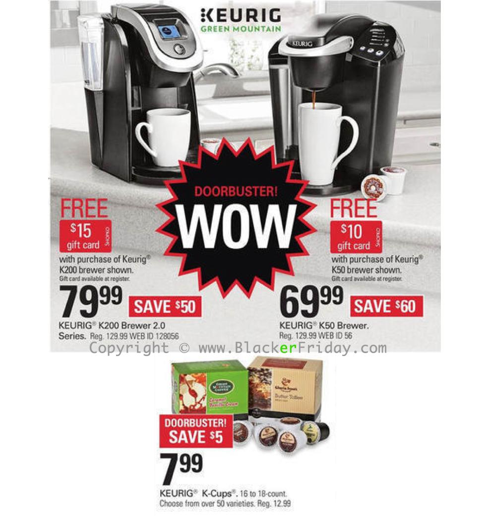 Keurig Black Friday 2018 Sale & K-Cup Coffee Brewer Deals ...