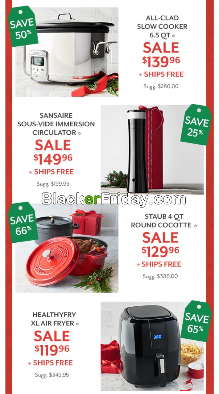 Sur La Table Black Friday 2018 Sale Deals Blacker Friday
