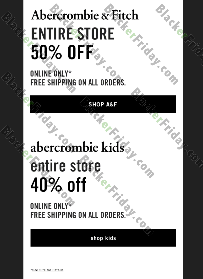 Abercrombie Kids offers weekly and daily specials on particular clothing items. Shop their sale and clearance section to score great deals. New items are added frequently and surprise deals, such as free shipping, are regularly added%(34).