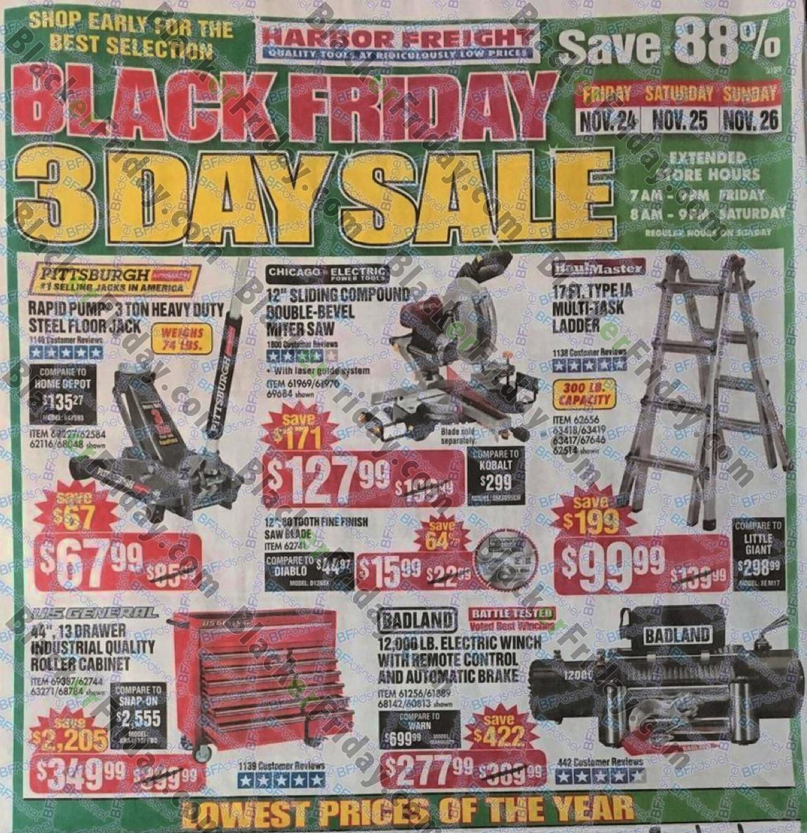 harbor freight tools black friday 2018 sale ad scan blacker friday. Black Bedroom Furniture Sets. Home Design Ideas