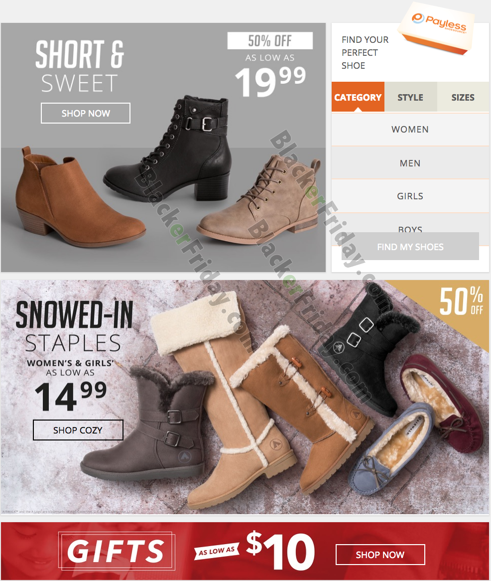 Payless Shoes Cyber Monday Sale 2020