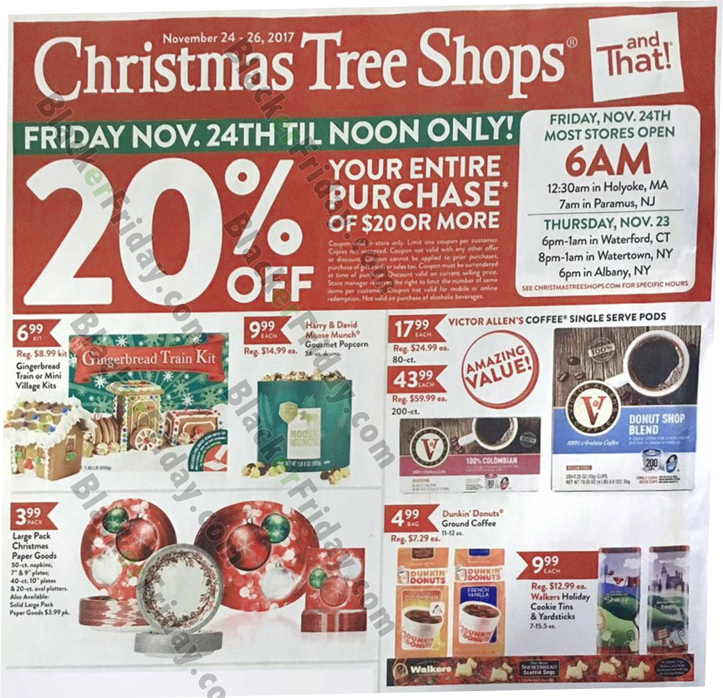 Christmas Tree Sale Black Friday: Christmas Tree Shops Black Friday 2020 Sale