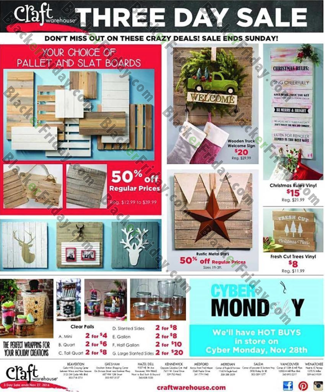 craft warehouse black friday 2018 sale ad scan blacker