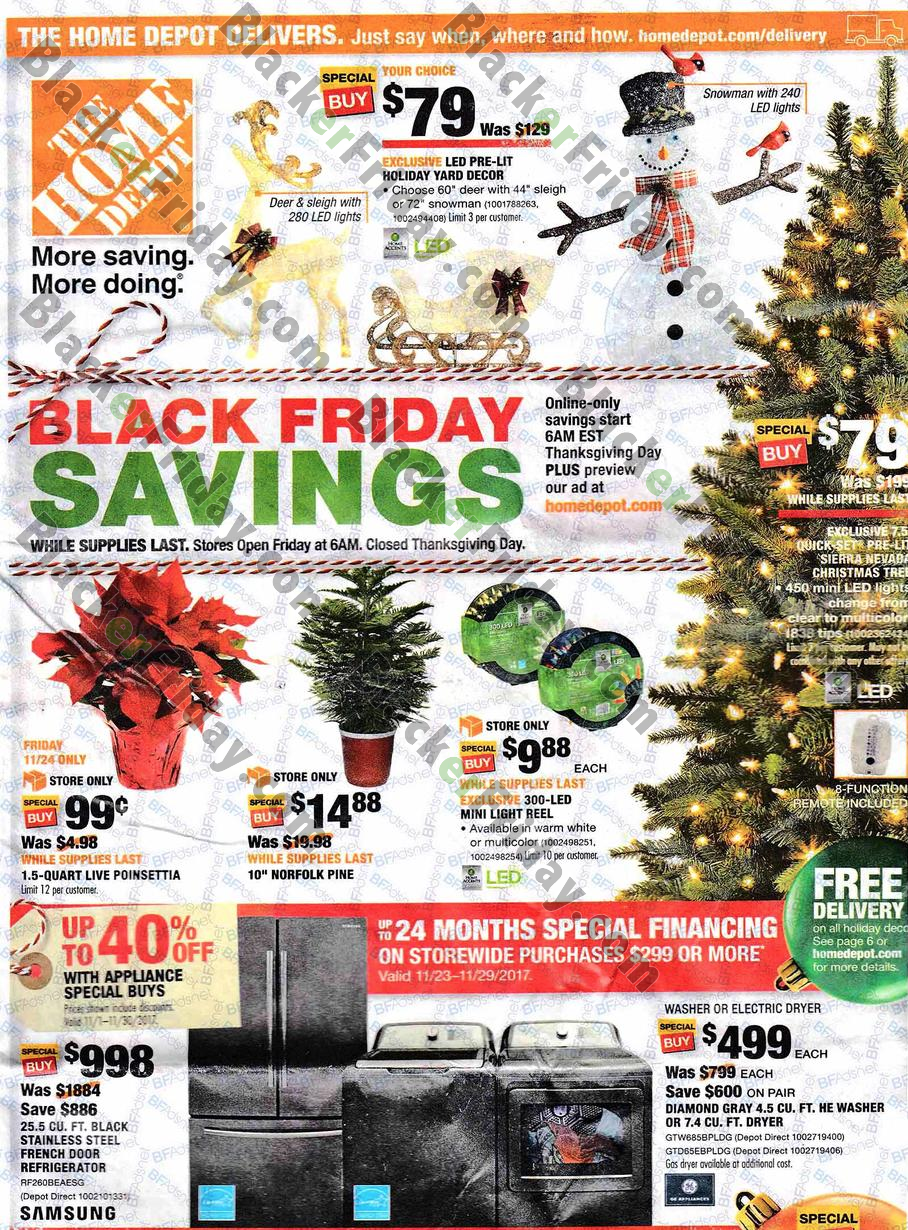 The Home Depot Black Friday Ad