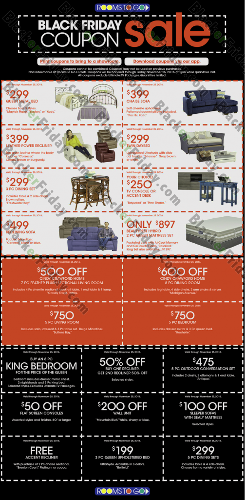 Rooms To Go Black Friday 2018 Sale Amp Deals Blacker Friday
