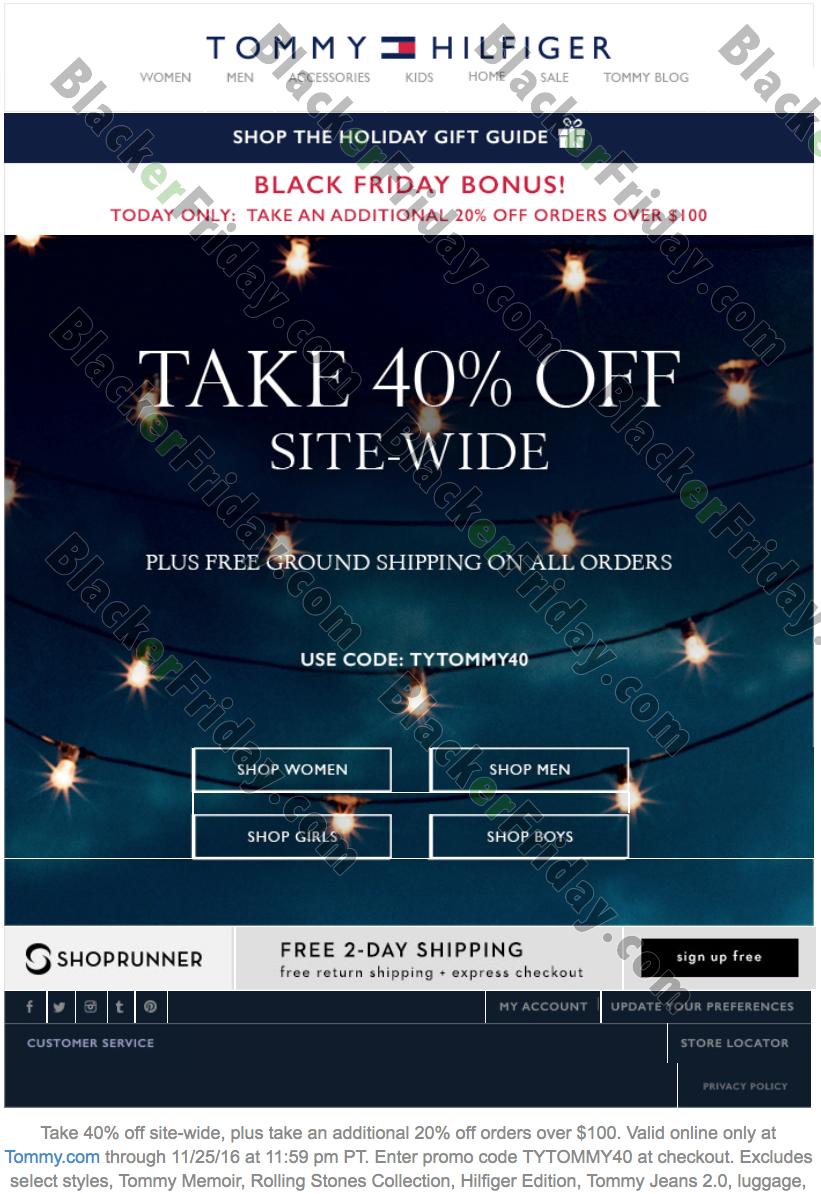 wie kommt man 2019 Neupreis beste Seite Tommy Hilfiger Black Friday 2019 Sale, Ad & Deals - Blacker ...