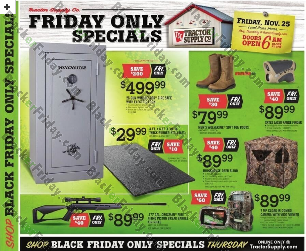 Complete coverage of Tractor Supply Black Friday Ads & Tractor Supply Black Friday deals info.