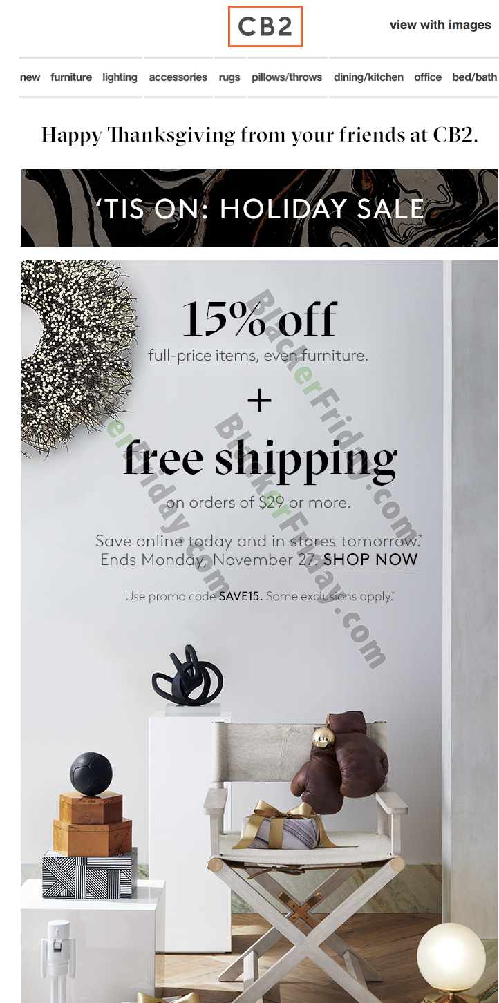 Cb2 Free Shipping >> Cb2 Black Friday 2019 Sale Ad Blacker Friday