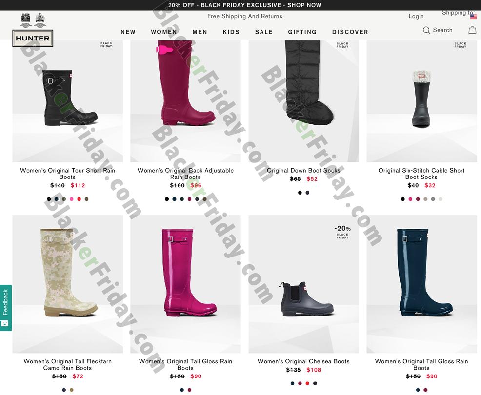 Hunter Boots Black Friday 2020 Sale