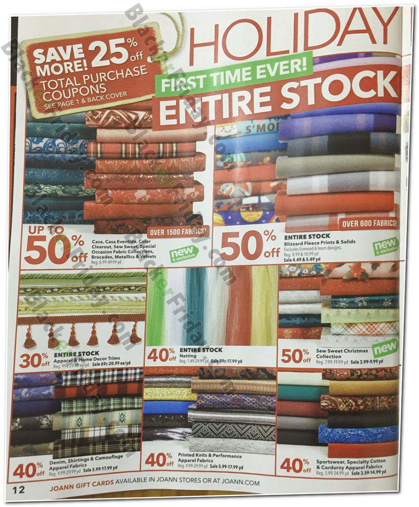 Jo-Ann Fabric Black Friday 2018 Sale, Deals & Ads - Blacker Friday