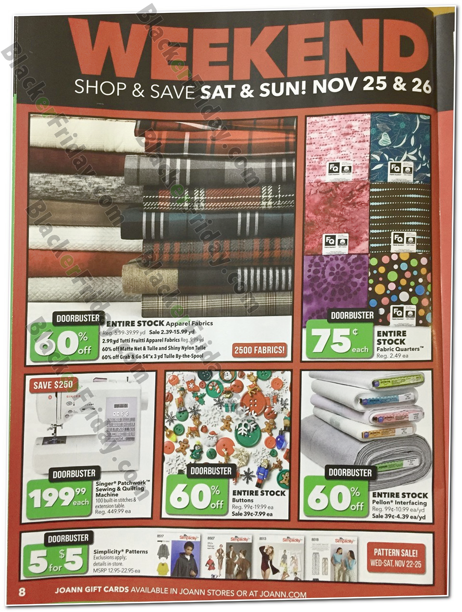 Jo-Ann Fabric's Black Friday 2019 Ad & Sale Details - BlackerFriday com