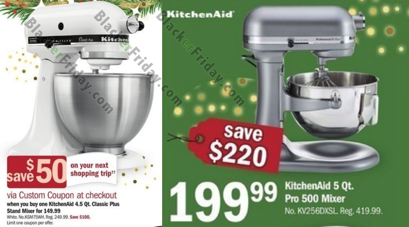 Kitchen Aid Artisian Mixer Black Friday
