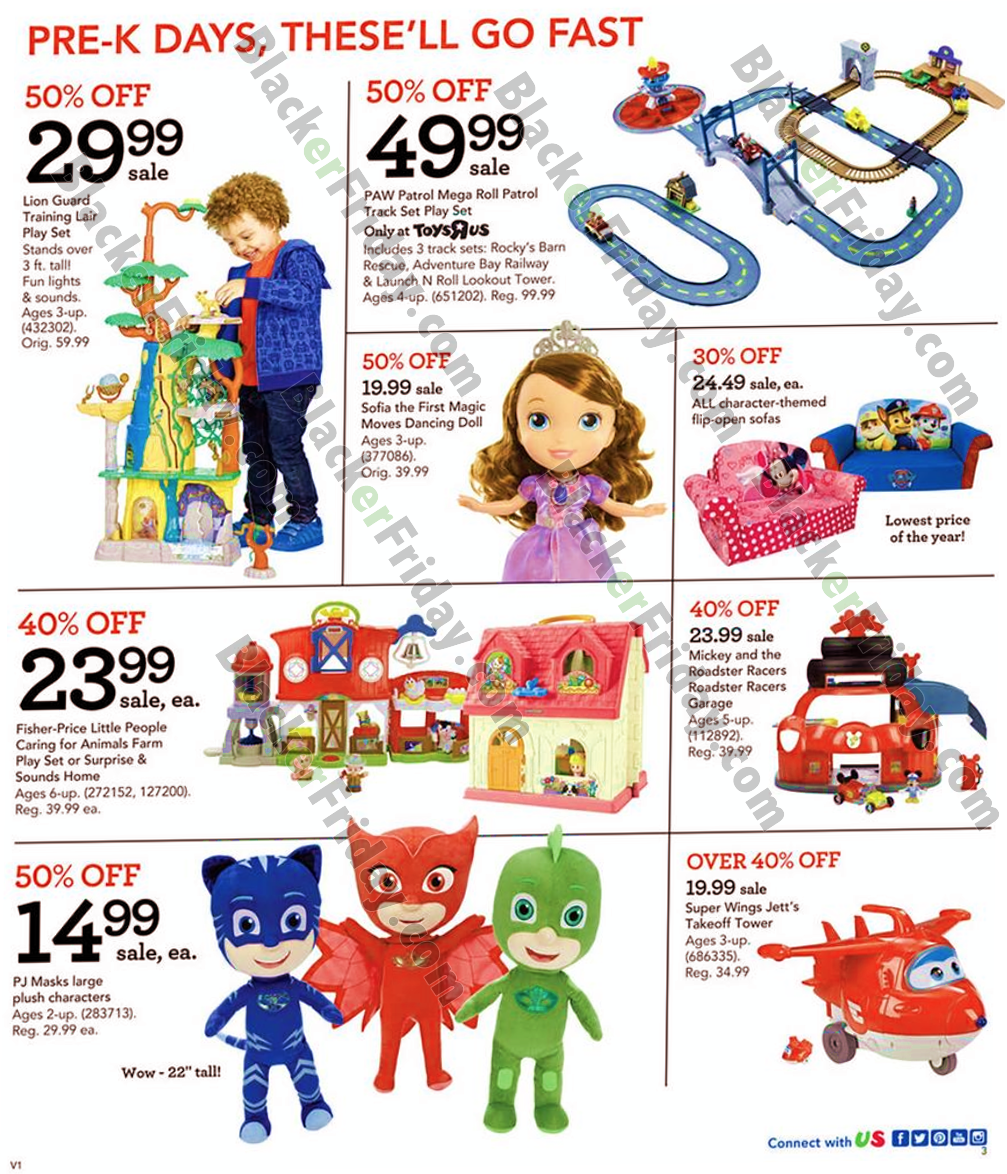 Toys R Us Flyer November 23 - 29, Black Friday is currently available – Find the latest weekly flyer for Toys R Us. Also, keep your challenge with coupons and great deals from Toys R Us. Toys R Us is a American toy and juvenile-products. Toys R Us Wayne, New Jersey, United States.