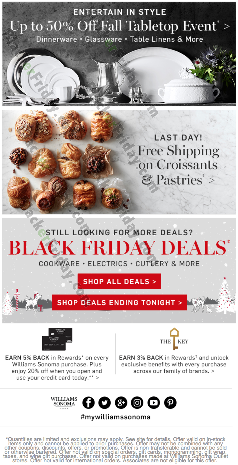Williams-Sonoma's cookware and kitchen sale features limited time pricing on cookware and tools. Find kitchen essentials on sale at Williams-Sonoma. Biggest Cutlery Deals - Up to 75% Off Wüsthof Cutlery - Up to 55% Off Shun Cutlery - Up to 50% Off Quicklook Williams Sonoma Black Truffle Gravy Base Sugg. Price $ – $ Sale.