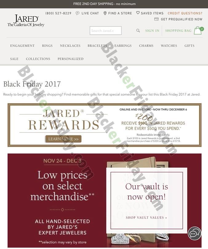 Jareds Jewelry Black Friday Sale