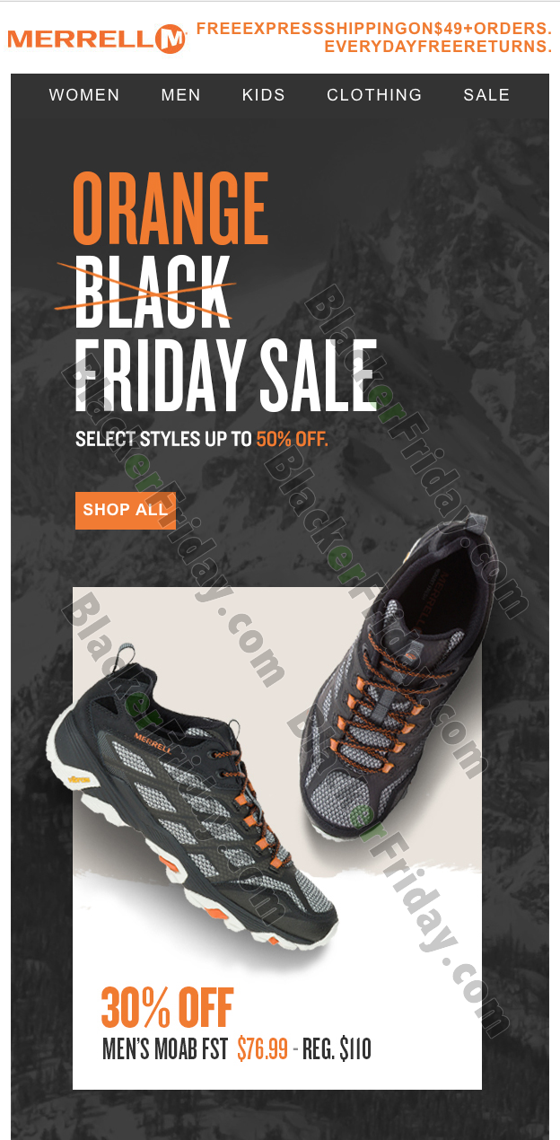 Merrell Black Friday 2021 What