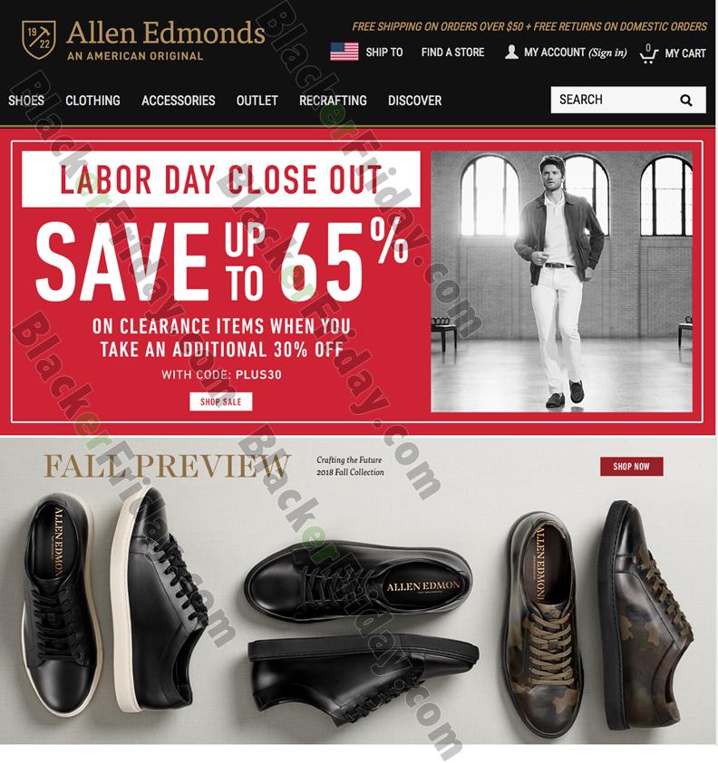 Allen Edmonds Labor Day Sale 2020