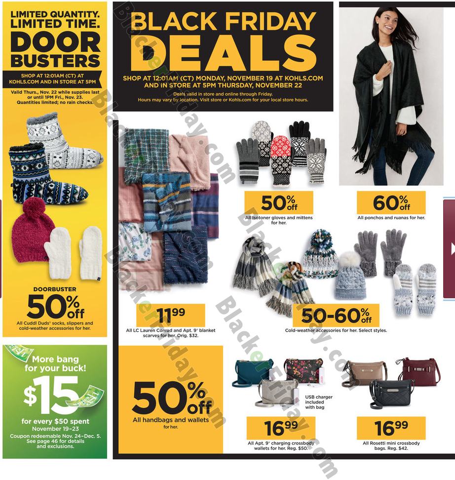 khols black friday sales 2019