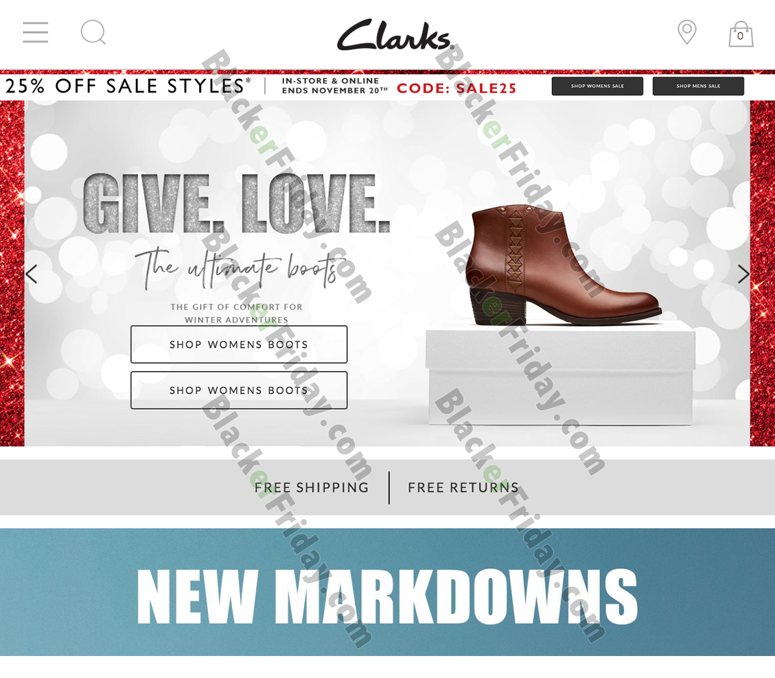 Clarks Black Friday 2020 Sale - What to