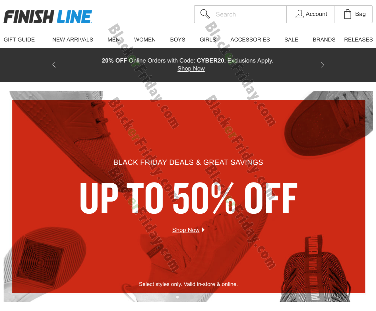 Finish Line Black Friday 2020 Sale