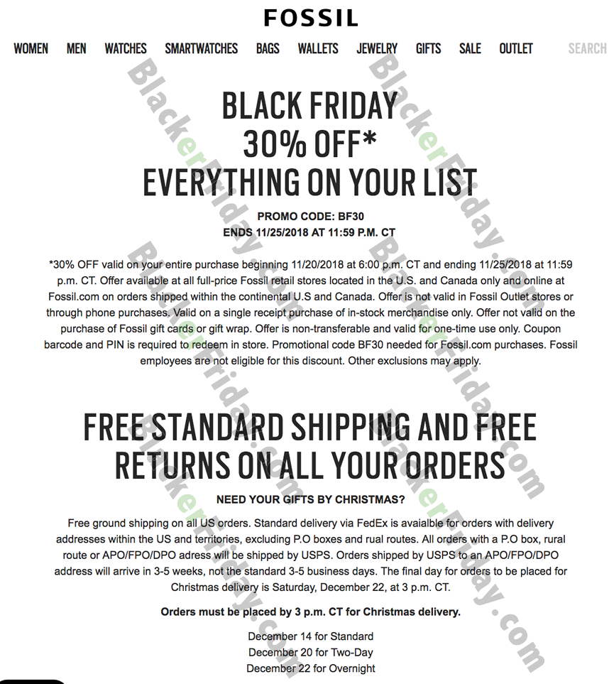 Fossil Watch Black Friday 2020 Sale What To Expect Blacker Friday