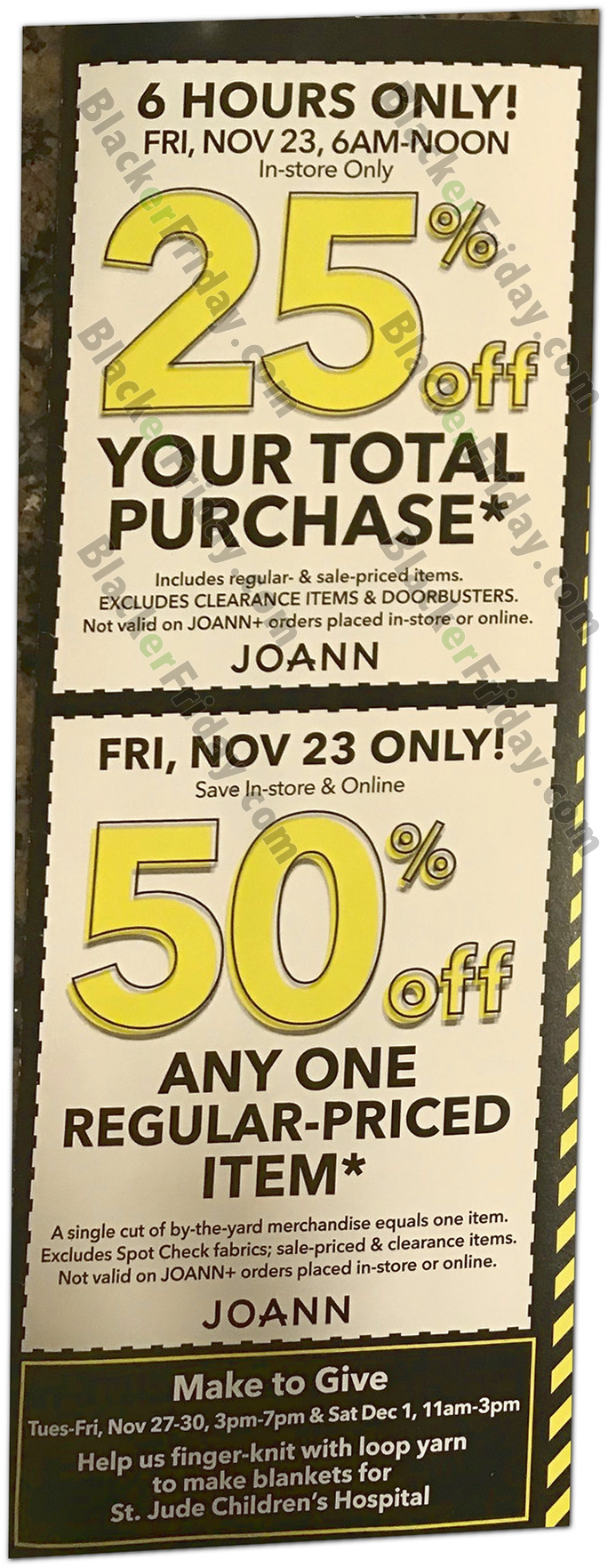 Jo-Ann Fabric's Black Friday 2019 Ad & Sale Details