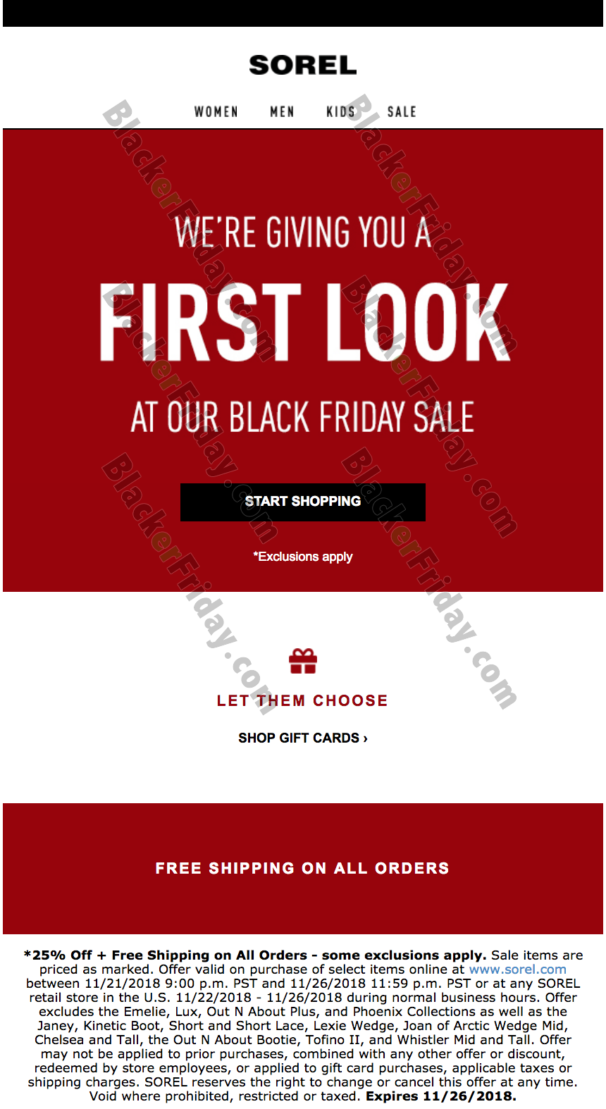 Sorel Black Friday 2020 Sale - What to