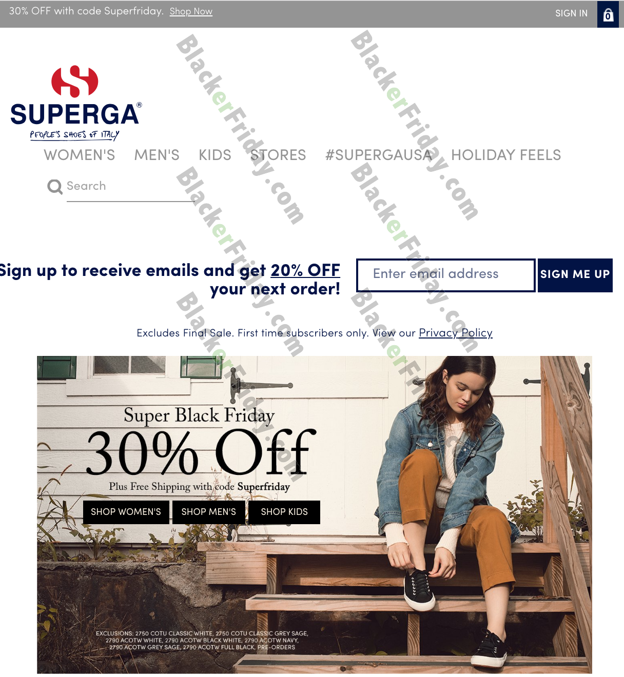 Superga Black Friday 2020 Sale - What