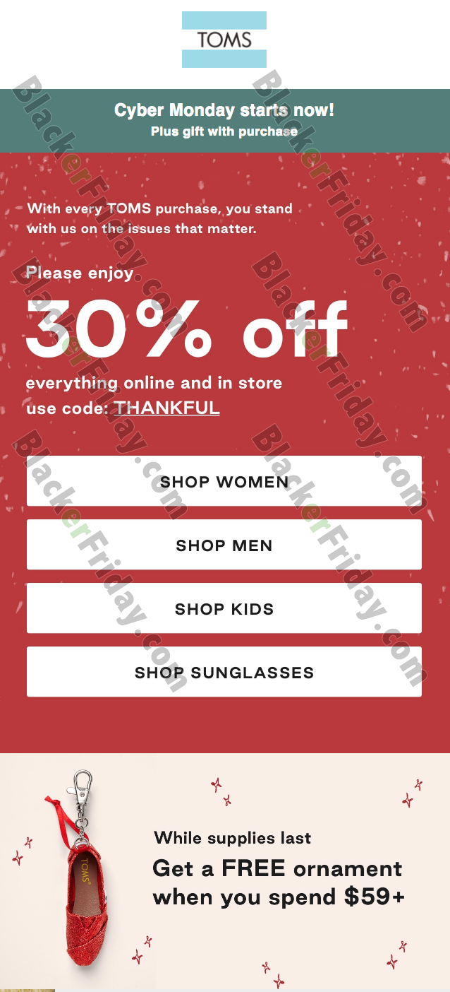 TOMS Shoes Cyber Monday Sale 2020