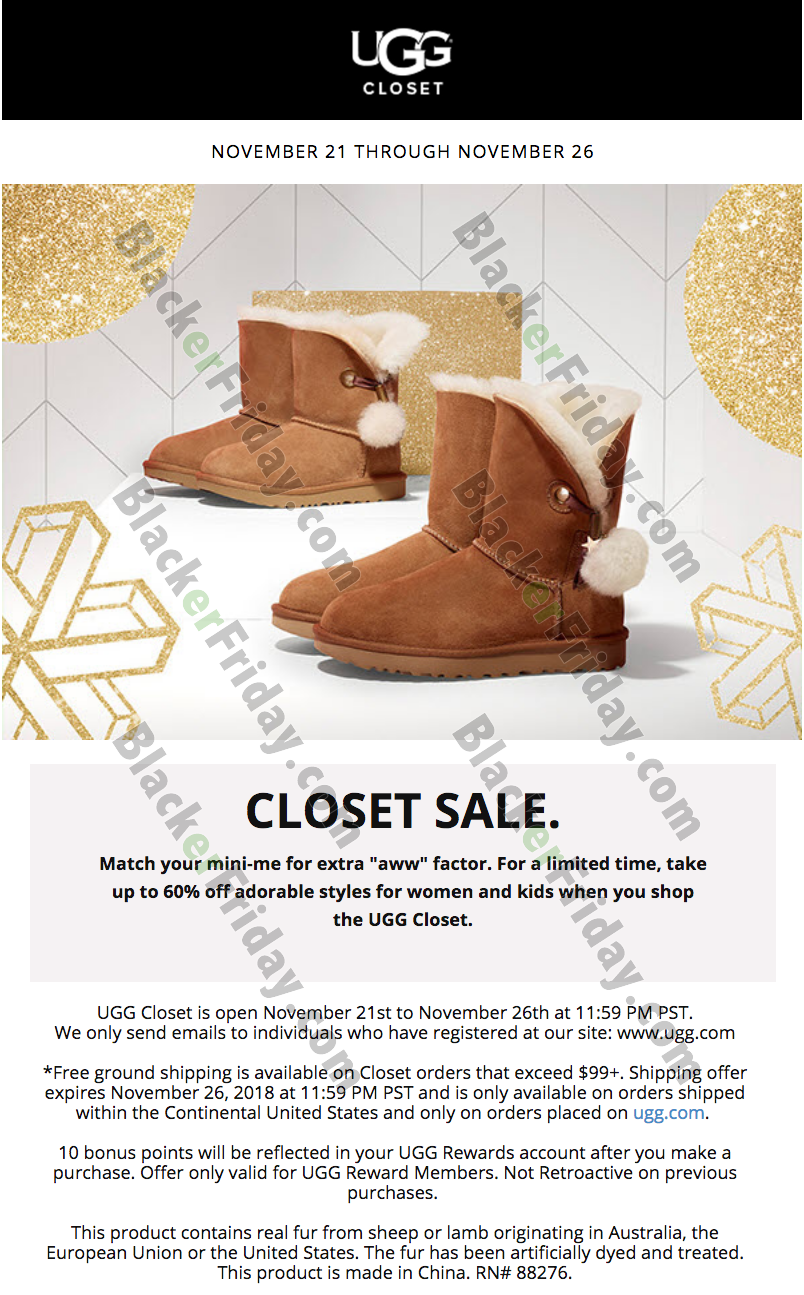 UGG Cyber Monday 2020 Sale - What to