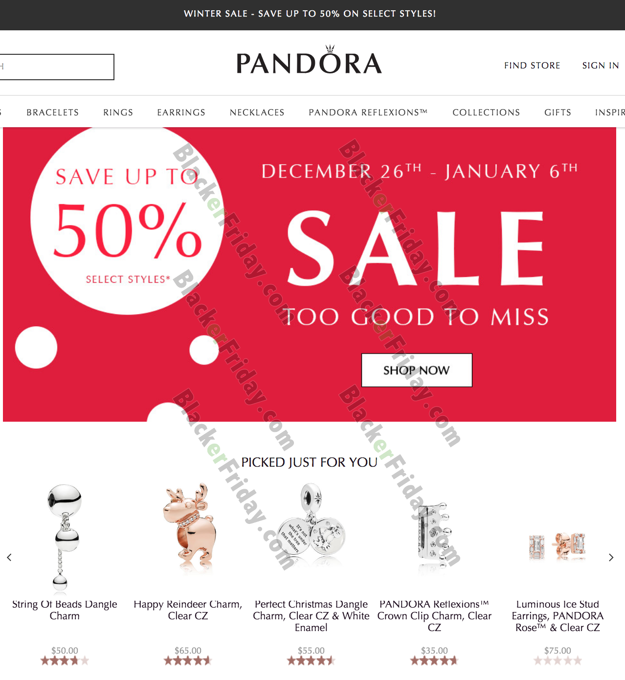 Pandora After Christmas Sale 2021 - What to Expect - Blacker Friday