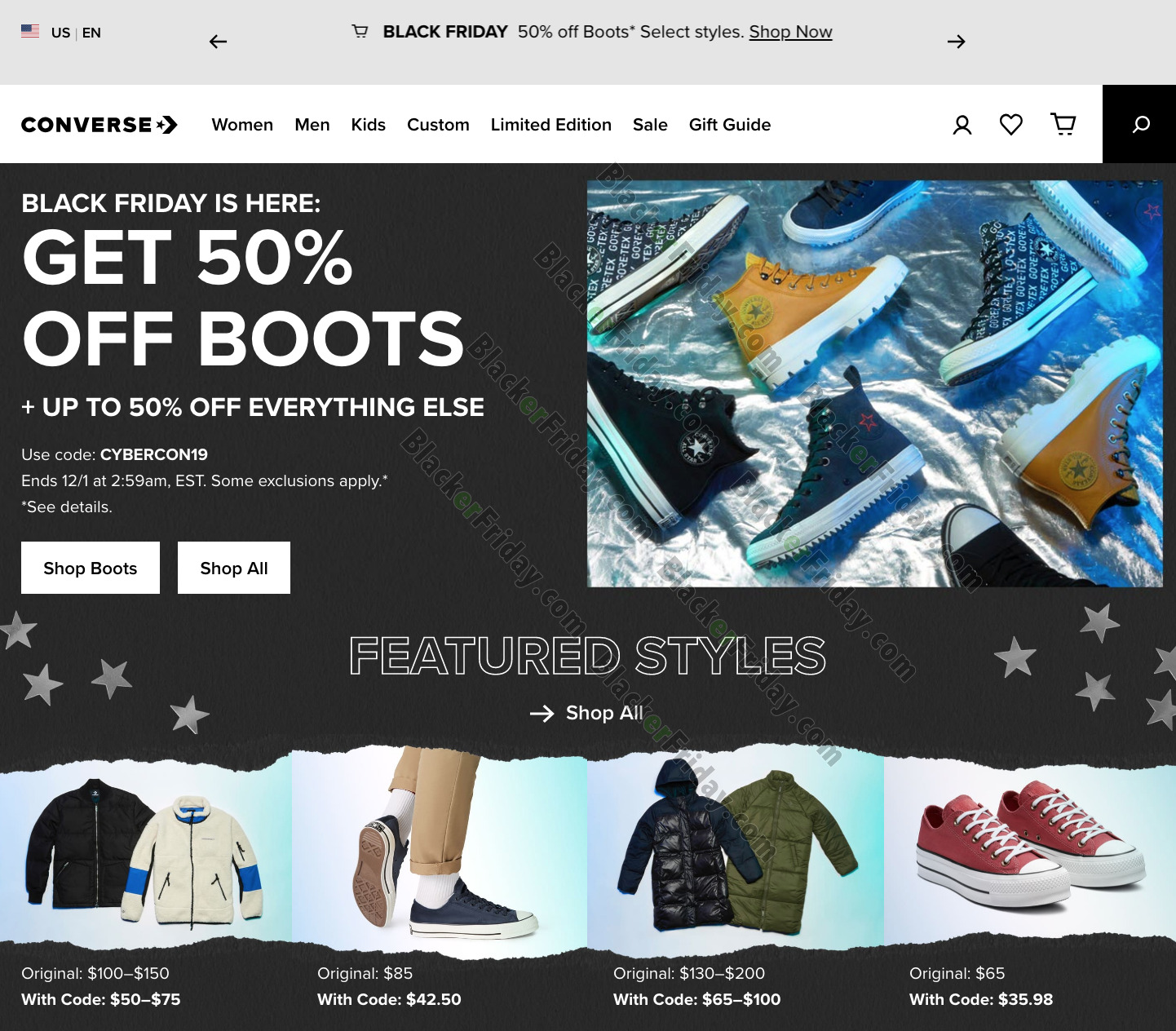 Converse Black Friday 2020 Sale - What
