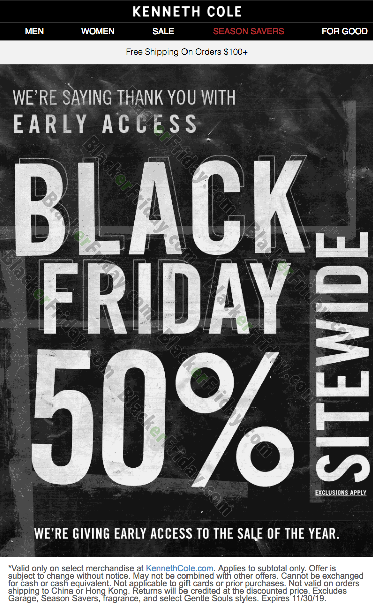Kenneth Cole Black Friday 2020 Sale What To Expect Blacker Friday