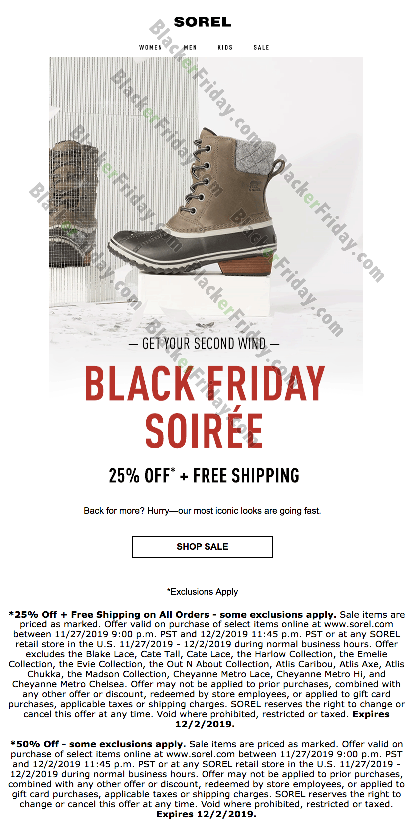 Sorel Cyber Monday 2020 Sale - What to