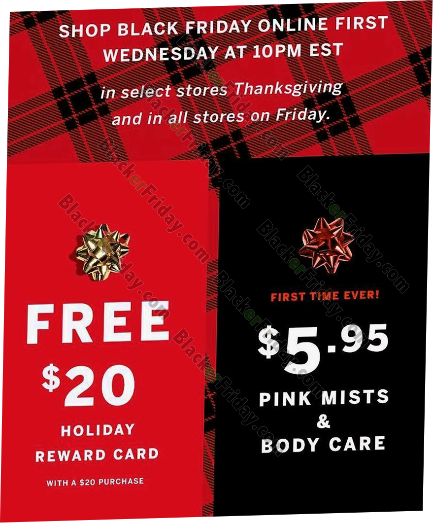 Victoria S Secret Black Friday 2021 Ad Sale Free Tote Bag Offer Blacker Friday