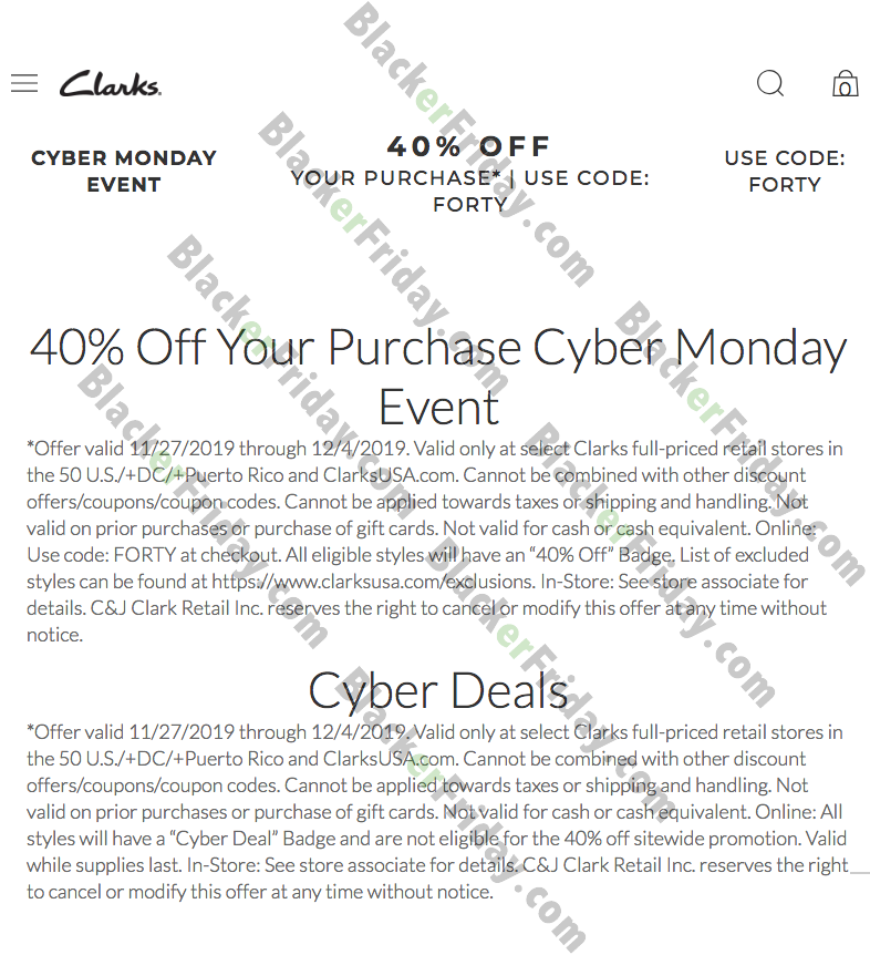 Clarks Cyber Monday Sale 2020 - What to